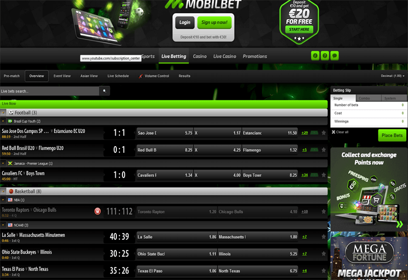 Mobilbet Casino Live Betting