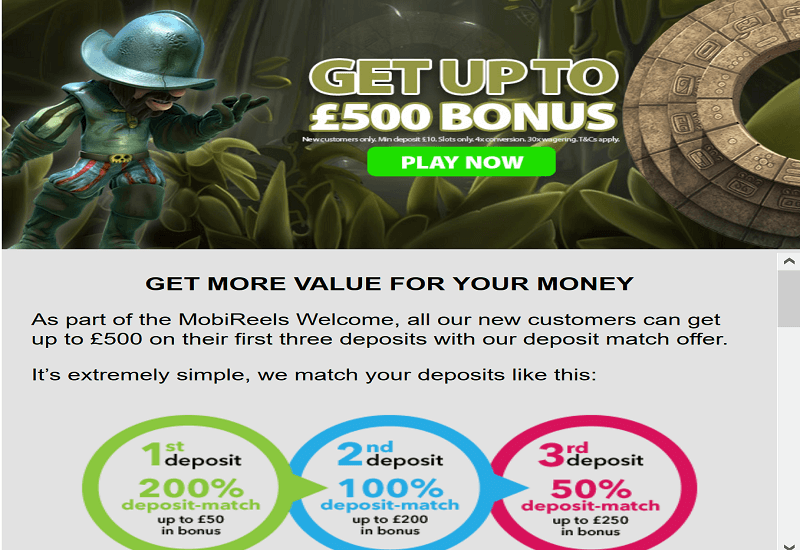 MobiReels Casino Promotion