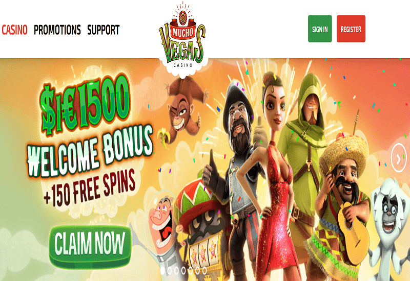 Mucho Vegas Casino Home Page