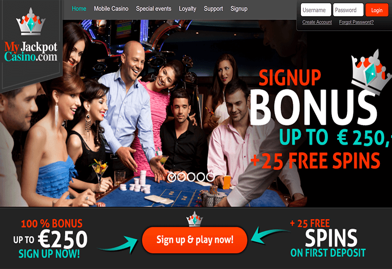 My Jackpot Casino Home Page