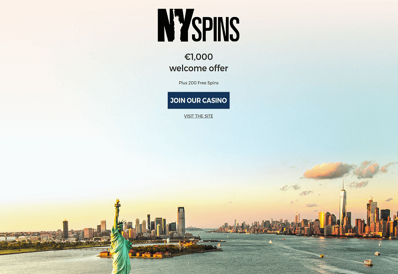 NY Spins Casino Home Page