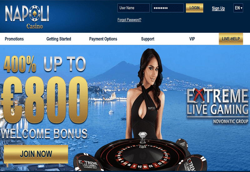 Napoli Casino Home Page