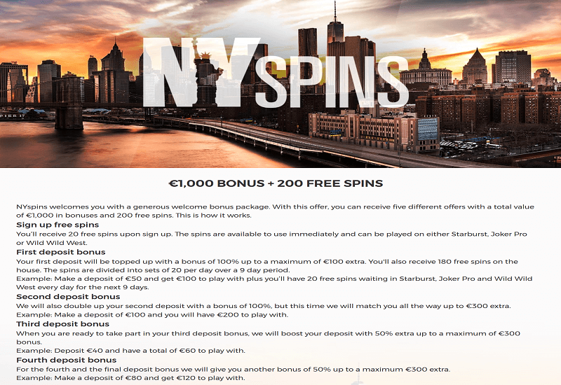 NY Spins Casino Promotion