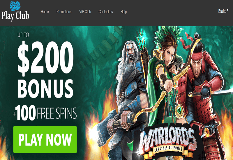 Play Club Casino Home Page