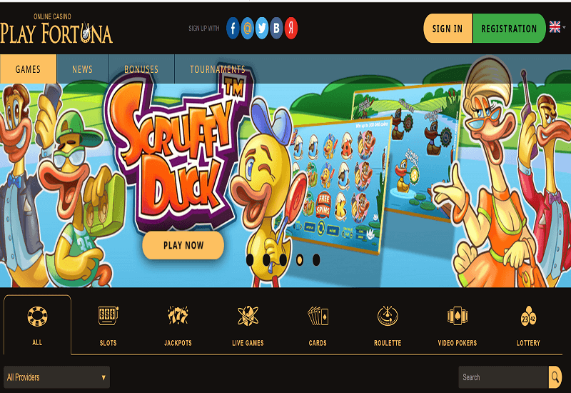 Play Fortuna Casino Home Page