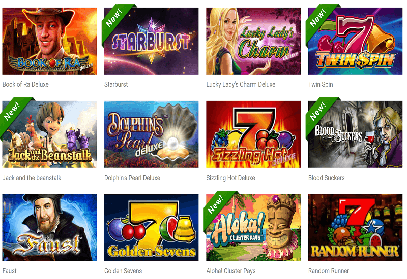 Quasar Casino Video Slots