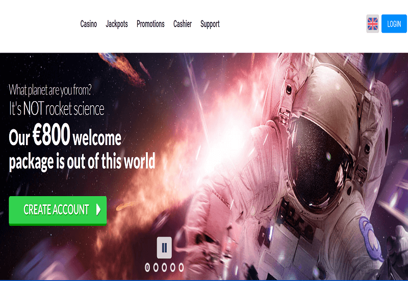 Quasar Casino Home Page
