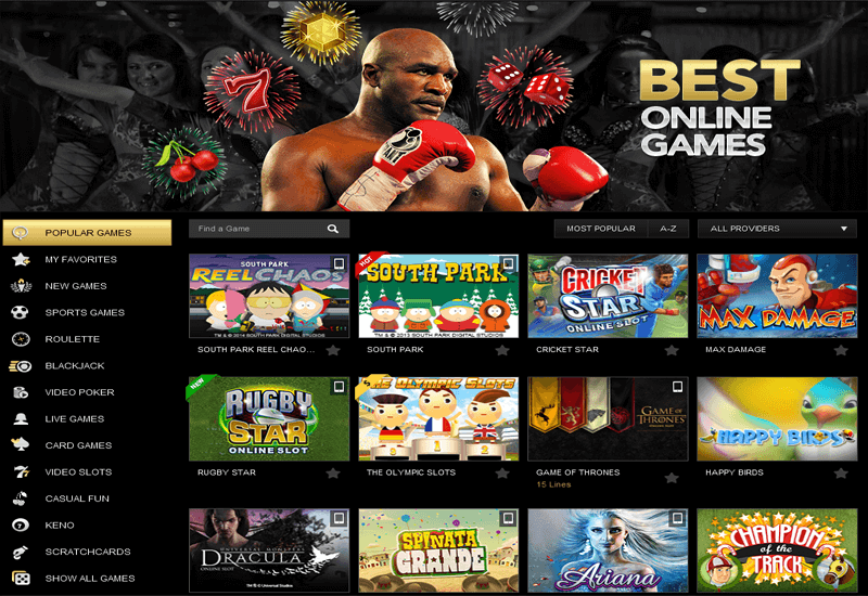 RealDealBet Casino Games