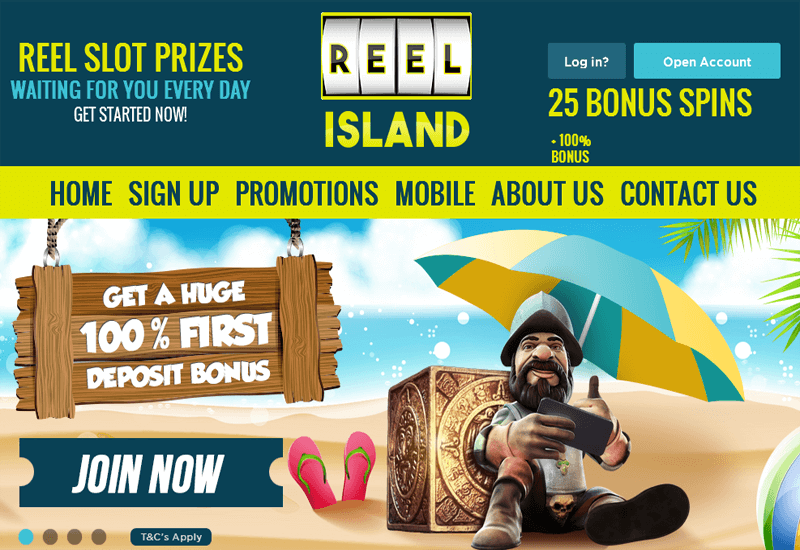 Reel Island Casino Home Page