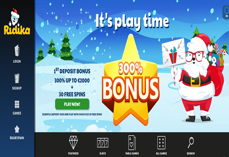 Ridika Casino Home Page