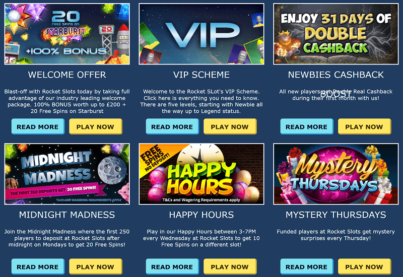 Rocket Slots Casino Promotion