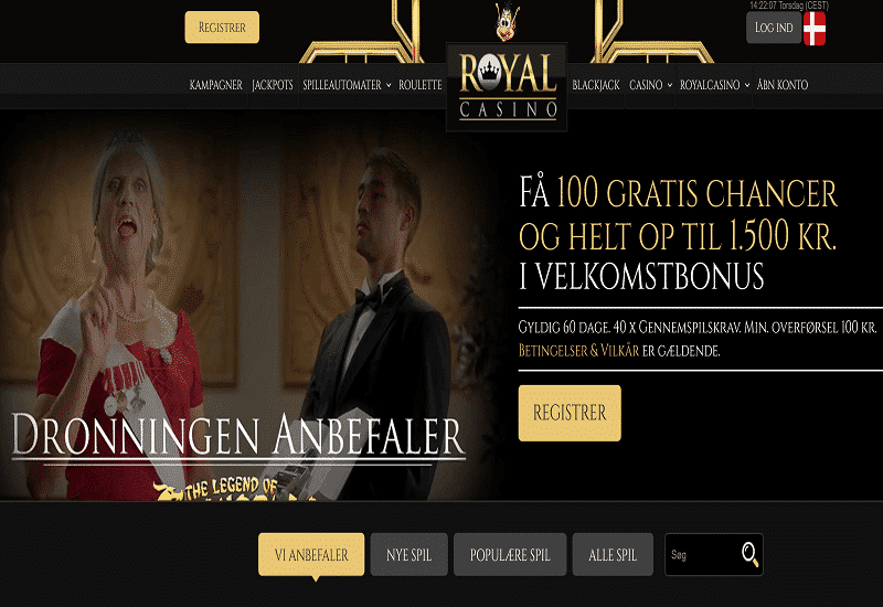 Royal Casino DK Home Page