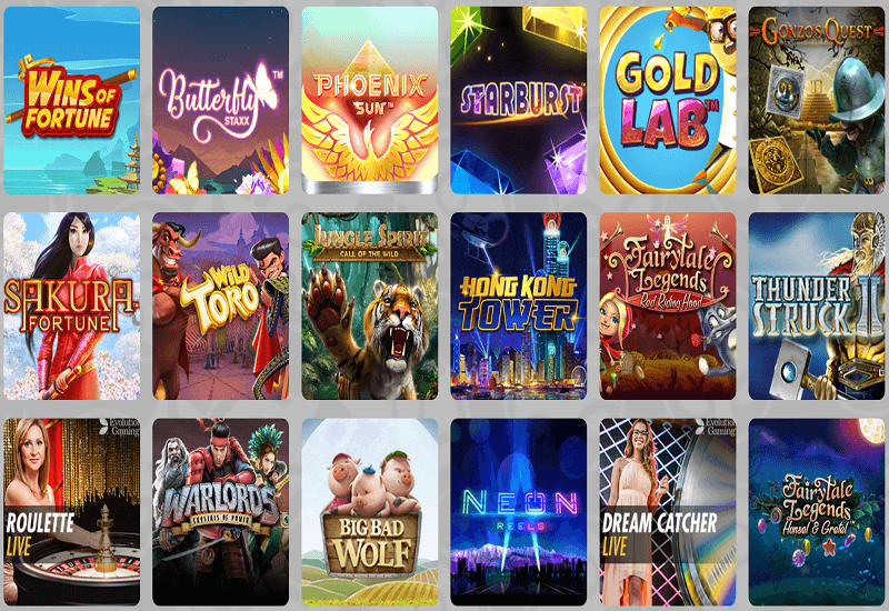SCANDIBET Casino Video Slots
