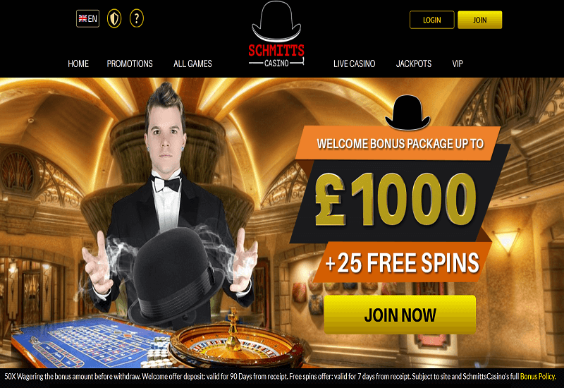 Schmitts Casino Home Page