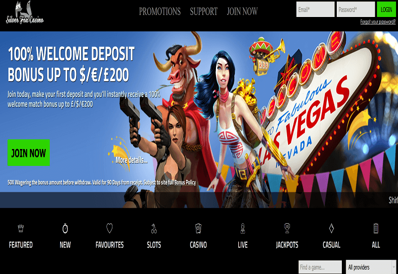 Silver Fox Casino Home Page