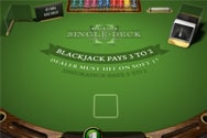 Single Deck Black Jack Table Games
