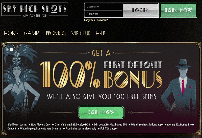 Sky High Slots Casino Promotion
