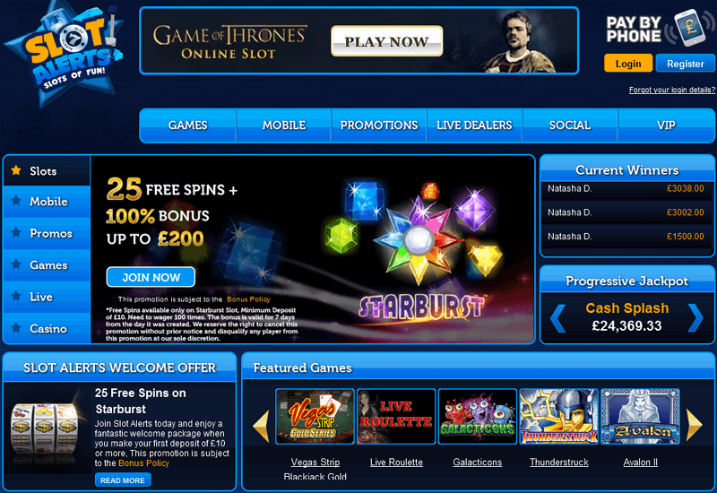 Slot Alerts Casino Home Page