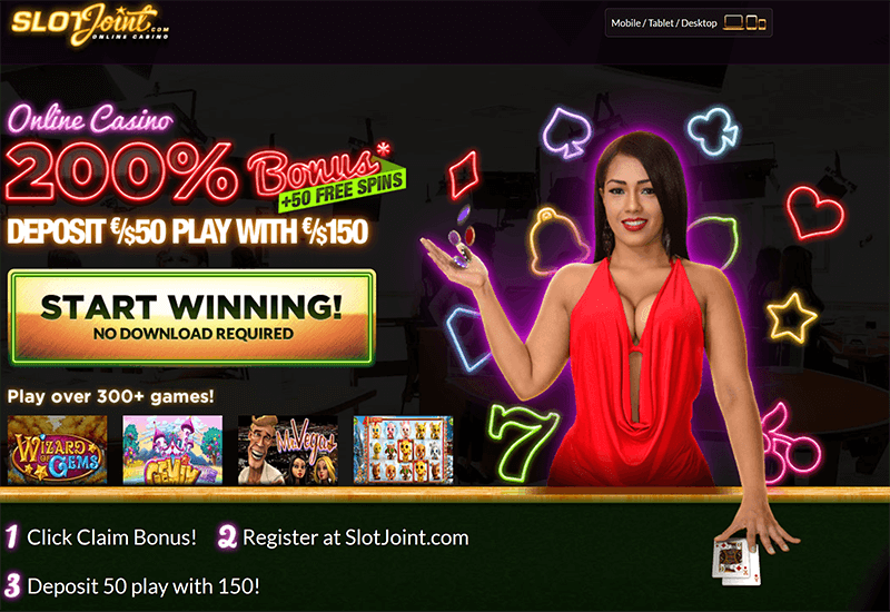 Slot Joint Casino Promotion