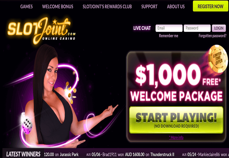 Slot Joint Casino Home Page
