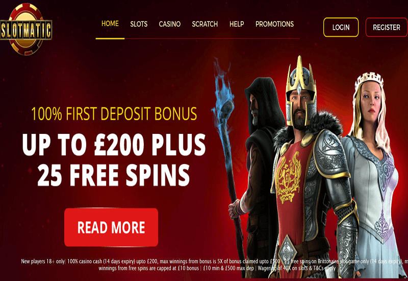 Slot Matic Casino Home Page
