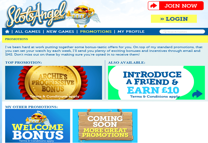 Slots Angel Casino Bonus