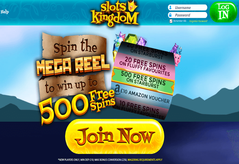 Slots Kingdom Casino Home Page