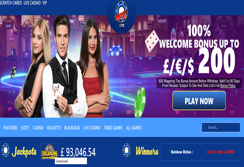 Slots Ltd Casino Home Page