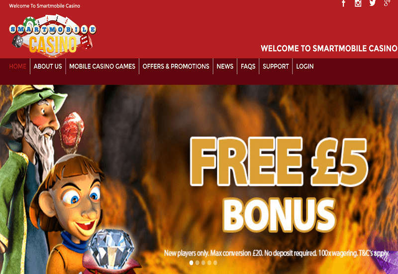 Smart Mobile Casino Home Page