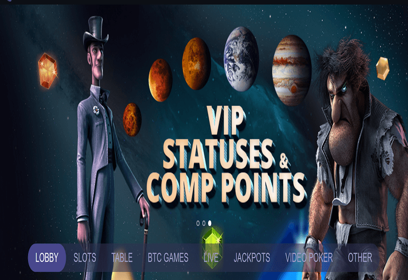 Space Casino Home Page