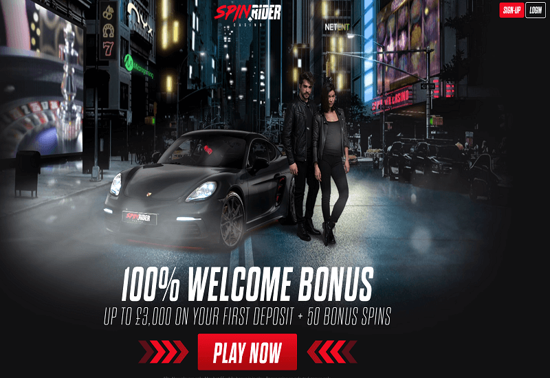 Spin Rider Casino Home Page