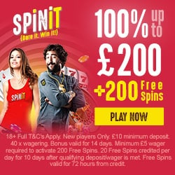 200 Free Spins