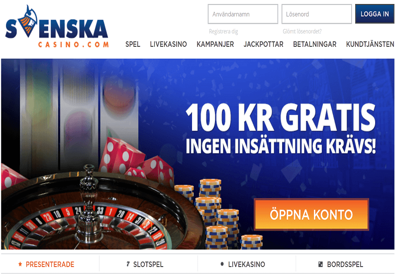 Svenska Casino Home Page
