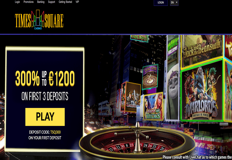 Times Square Casino Home Page