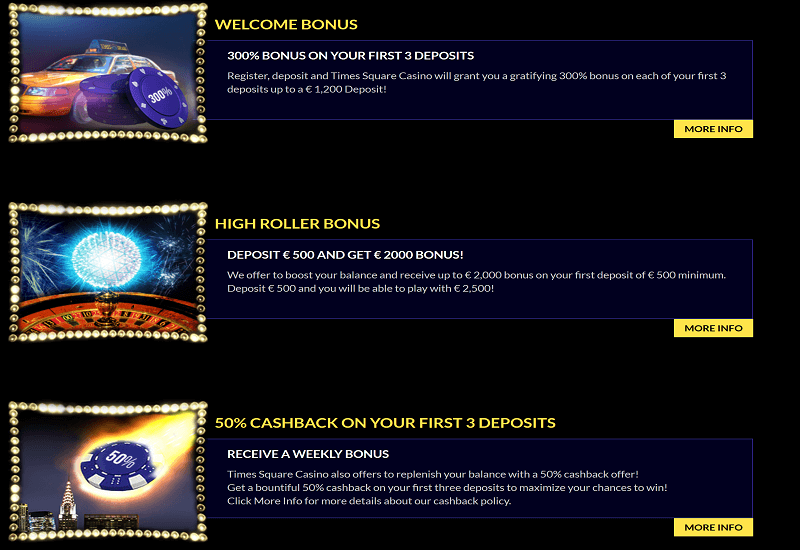 Times Square Casino Promotion