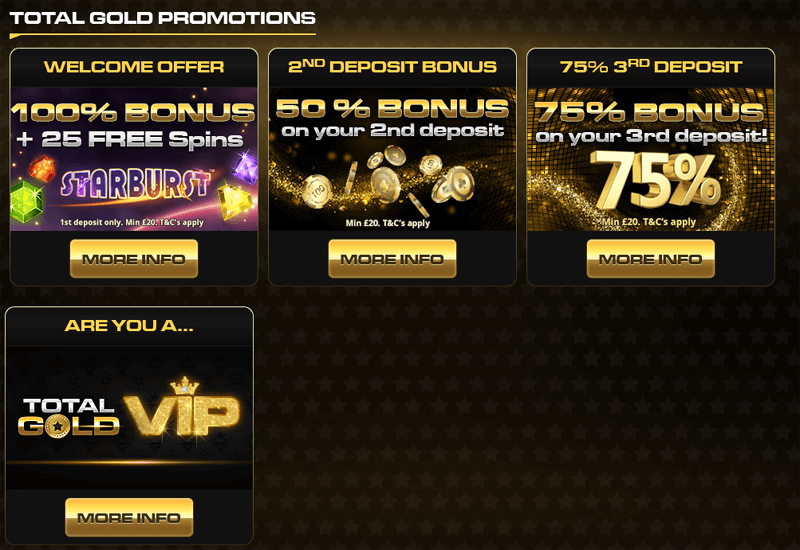 Total Gold Casino Promotions