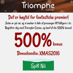 500% Bonus during Xmas at Triomphe Casino