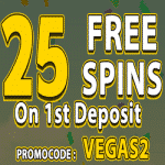 10 Free Spins on Sign Up + 25 Extra Spins from Vegas Paradise Casino