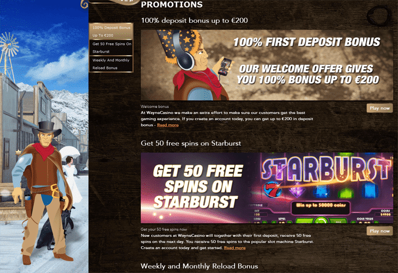 Wayne Casino Promotions