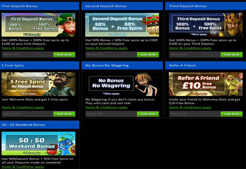 Welcome Slots Casino Promotions