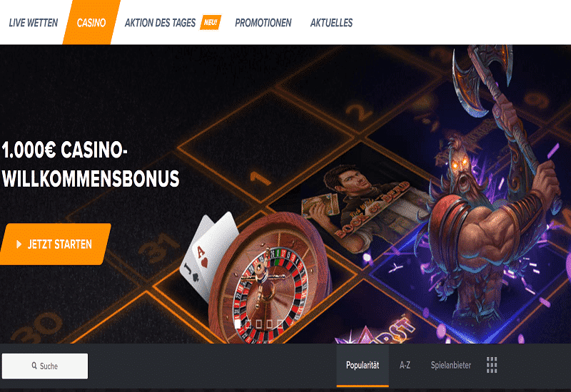 Wetten Casino Home Page