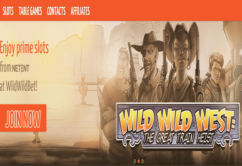 Wild Wild Bet Casino Home Page
