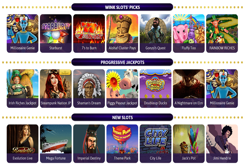 Wink Slots Casino Video Slots