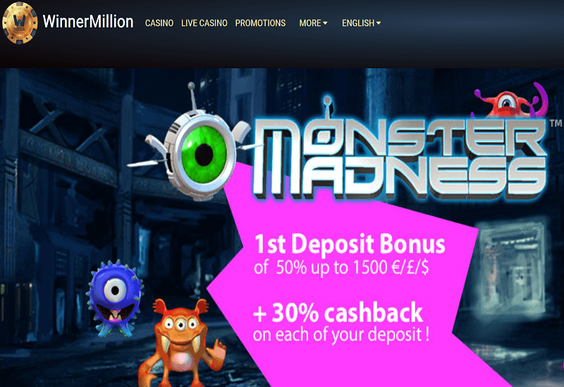 Winner Million Casino Home Page