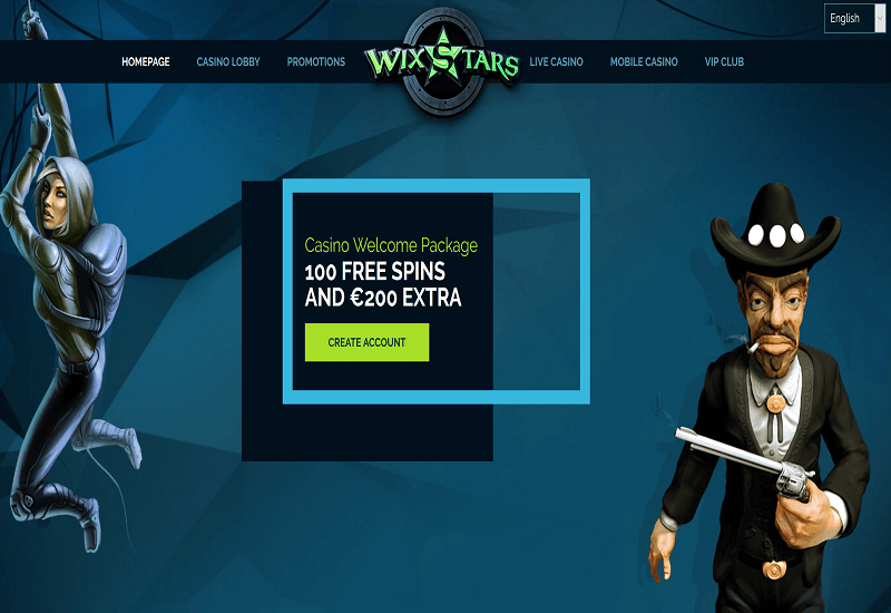 Wixstars Casino Home Page
