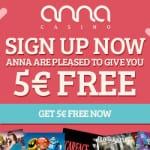 80 Free Spins from Anna plus extra cash on the games