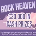 Rock Heaven: €30,000 from Aston Casino