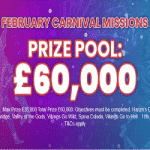 Black Spins: £60,000 February Carnival Missions