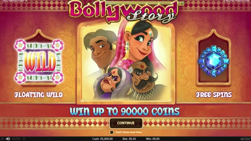 Bollywood Story Video Slot - NetEnt