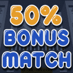 50% Bonus Match from casino Bonzo Spins